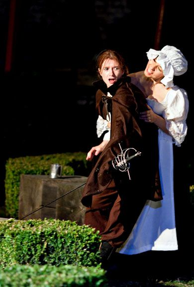 Rosalind Parker plays D'Artagnan, The Three Musketeers, Spontaneous Productions.