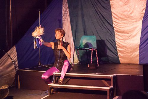 Worpheus Wizard and Ros Parker in The Wonky Shonky Show