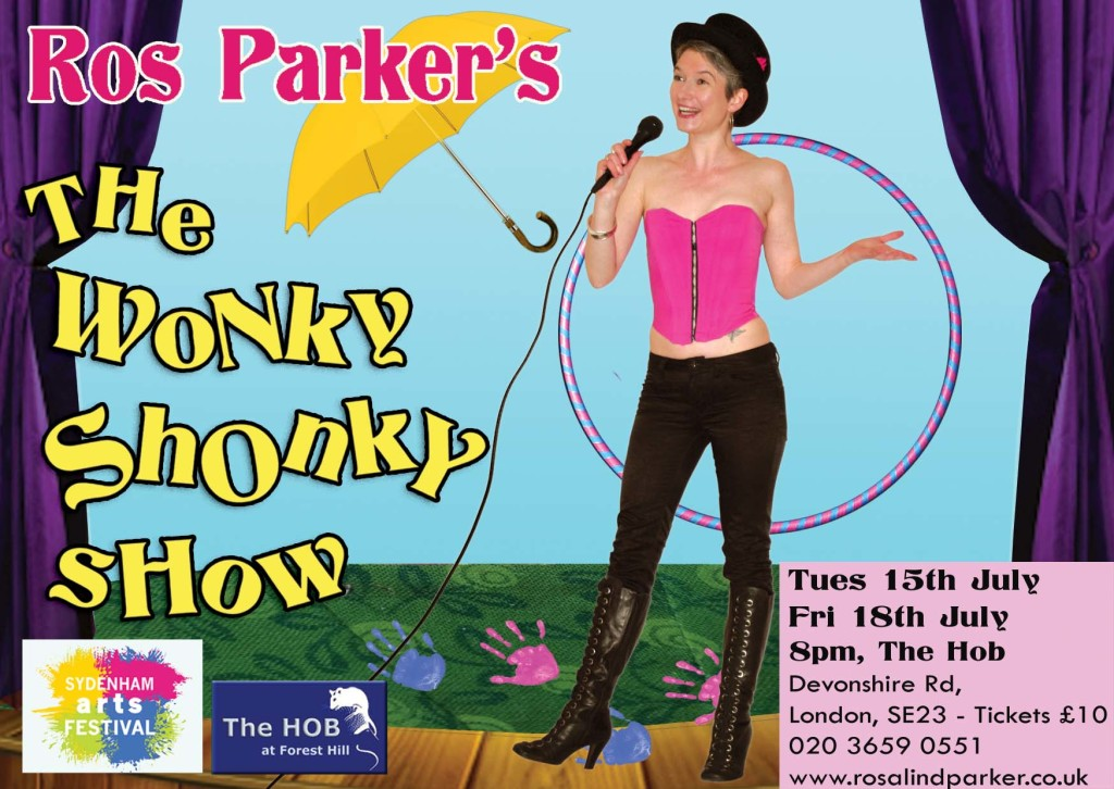 "Rosalind Parker performs ""The Wonky Shonky Show"", London 2014"